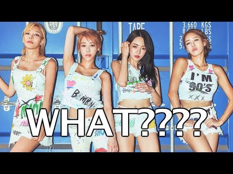 KPOP GIRL GROUP PERFORMS WITHOUT UNDERWEAR?