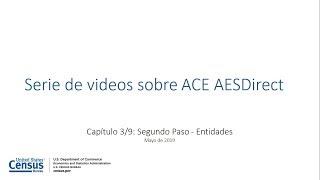 Tutorial de AESDirect Capítulo 3: Segundo Paso – Entidades