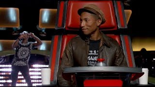 "The Voice BLIND AUDITION - Brian Nhira: ""Happy"" - Pharrell"