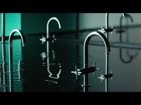 Grohe creates watery installation for launch of Atrio faucet collection