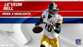 Le'Veon Bell Explodes w/ 186 Total Yards & 2 TDs | Steelers vs. Ravens | Wk 4 Player Highlights