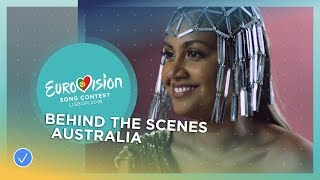 Behind The Scenes at Jessica Mauboy's video shoot! - Australia - Eurovision 2018