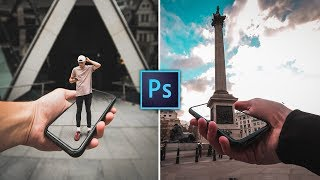 TRIPPY 3D Phone Manipulation Effect - Photoshop Tutorial