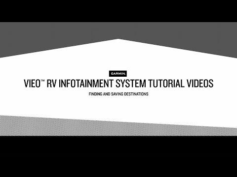 Vieo RV Infotainment System Tutorial Videos – Finding and Saving Destinations