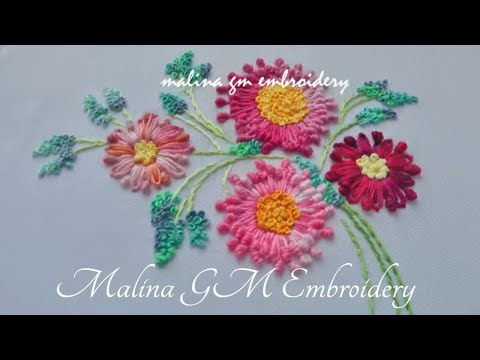 New Flower Stitch | Dimensional Embroidery | easy stitches