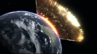 Simulation d'une météorite qui percute la Terre