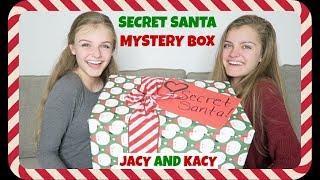 Secret Santa Christmas Mystery Box from YouTubers ~ Jacy and Kacy