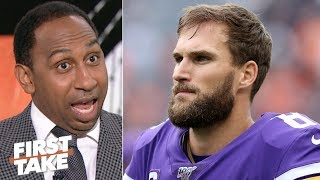 Kirk Cousins is so bad, the Vikings could eat his $28 million salary - Stephen A. | First Take