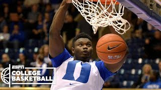 Zion Williamson puts on a dunk show in Duke's win | College Basketball Highlights