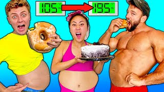 Who Can Gain the Most Weight in 1 Hour! (Carter Sharer vs Team RAR)