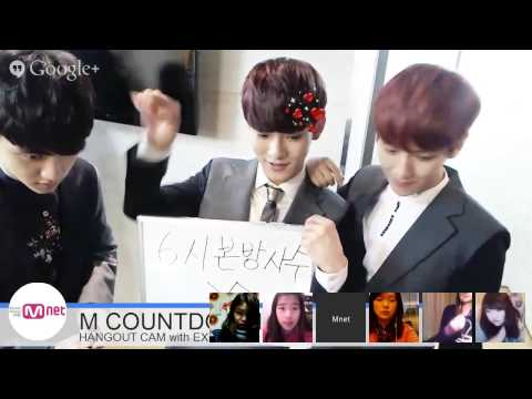 M COUNTDOWN HANGOUT CAM WITH EXO