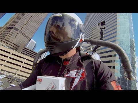 Energy Gum Company Making Deliveries via Jetpack? Watch out Amazon Drones!