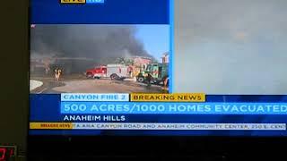 ORANGE COUNTY,  CALIFORNIA FIRE 91  241 freeway