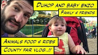 Duhop SUMMER TIME COUNTY FAIR Family Food Rides & Animals Vlog