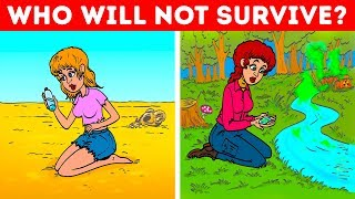 Can Your Brain Work Well In EXTREME Situations? 😯 Survival Riddles And Logic Puzzles!