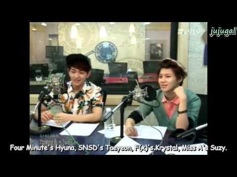 [ENG] 130502 SHINee's Fun Rankings on JYH Radio Pt 1/2