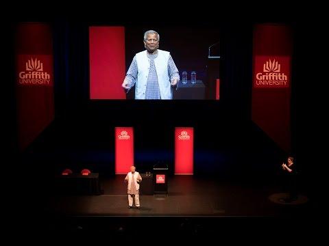 Professor Muhammad Yunus visits Griffith's Yunus Social Business Centre