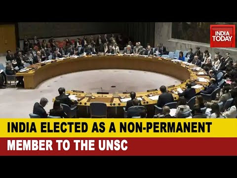India elected unopposed to UNSC's non-permanent member seat