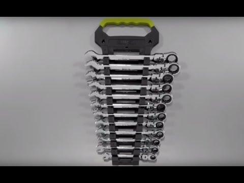 Klutch Flex Ratchet Wrench Set - 12-Pc., Metric, 8mm19mm