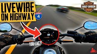 Harley-Davidson LIVEWIRE Highway Review!