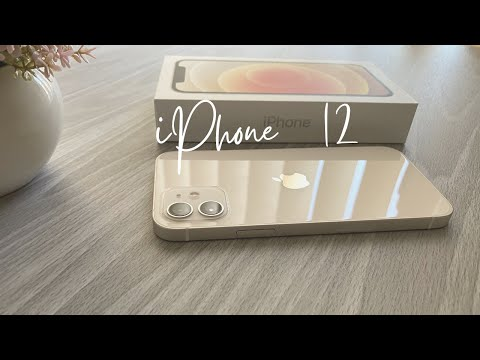 iPhone 12 White Unboxing + Accessories, MagSafe Charger