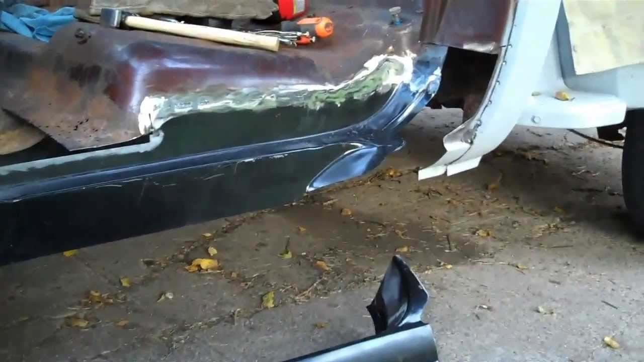 77 Chevy Truck >> Part 4 73-87 C10 Rust Repair | Welding Patch Panels - YouTube