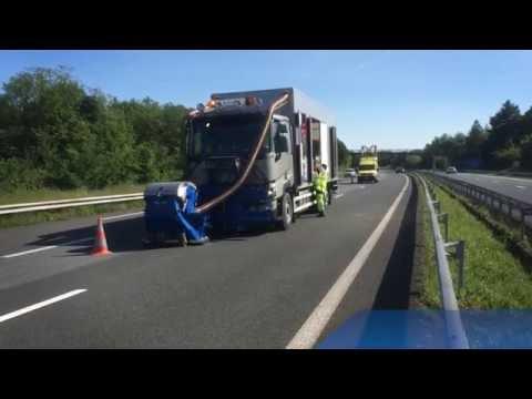 Asphalt Retexturing On Highway | Blastrac 2-45DTM Shot Blaster