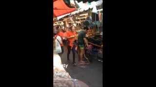Fancam 150102 Running Man In Thailand Kang Gary & Kim Sung Ryung @Klongtoey Market