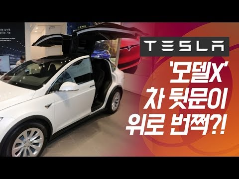 테슬라코리아가 공개한 전기차 SUV '모델X'