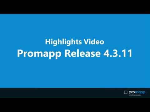 Highlights of Promapp Release 4.3.11