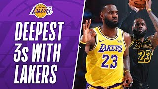 """""""Logo Three By LeBron"""" 🎯 LeBron James From WAY DOWNTOWN As A Laker!!"""