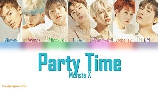 MONSTA X (몬스타엑스) - Party Time [COLOR CODED LYRICS(Han Rom Eng)]