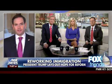 Rubio discusses immigration, ObamaCare, honoring Navy SEAL's widow on Fox & Friends