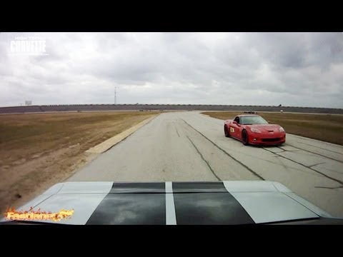 Z06 Corvette and a Turbo Mustang - Texas World Speedway