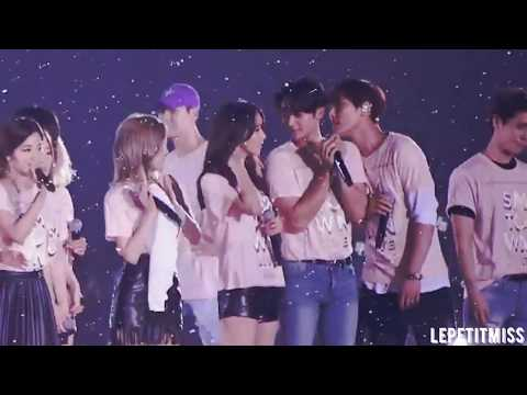 SHINee Minho and SNSD Yoona | MinYoon @ SMTown Live Tours Part 1