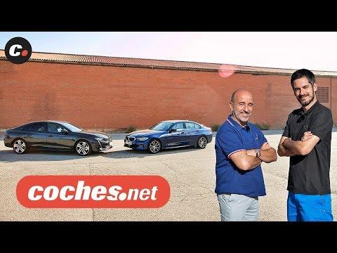 BMW Serie 3 vs Peugeot 508   Prueba / Test / Review en español   coches.net
