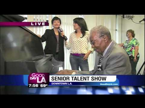 Senior Talent Show at Angelus Plaza