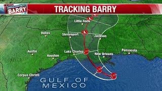 Watch Live: Radar tracks Tropical Storm Barry as it heads towards Gulf Coast