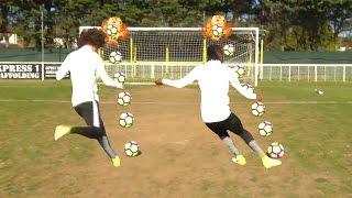David Luiz vs Victor Moses | 10 Ball Crossbar Challenge!