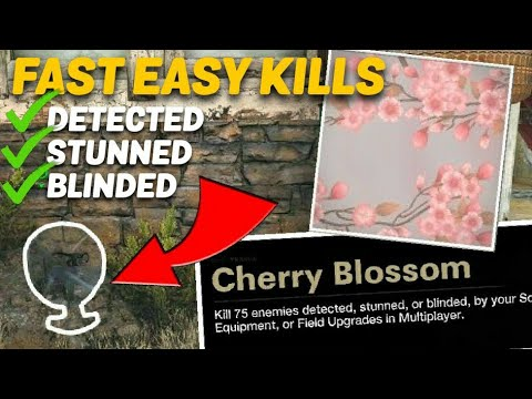 EASIEST way to GET DETECTED CHALLENGES in Cold War! (Cherry Blossom Camo)