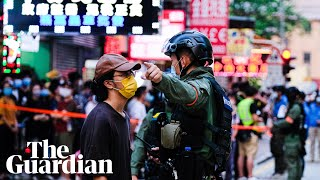12-year-old girl one of hundreds arrested in huge Hong Kong protest