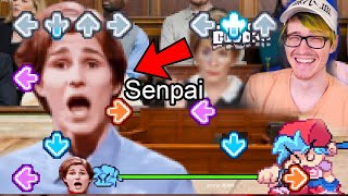 Friday night funkin' but senpai is real and there's a mod about it