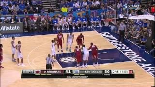 full basketball   Arkansas Razorbacks vs Kentucky Wildcats 15. 03. 2015 fixed sound