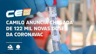 Camilo anuncia chegada de 122 mil novas doses da CoronaVac até amanhã
