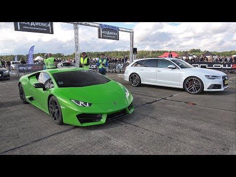 650HP Decat Audi RS6 Avant vs 580HP Lamborghini Huracan LP580-2