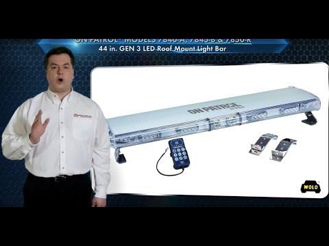WOLO On Patrol 44in. GEN 3 LED Lightbar - 48 Blue LEDs, 6 Amp, 12V, Model# 7845-B