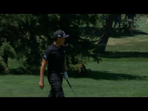 Rickie Fowler chips in for a birdie three at Bridgestone