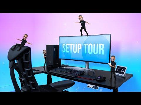 My 2021 Office/Gaming Desk SETUP TOUR!