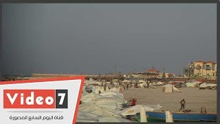 المناظر الطبيعية خلابة تجذب السياحة على شواطئ بورسعيد     -