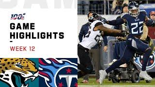 Jaguars vs. Titans Week 12 Highlights | NFL 2019